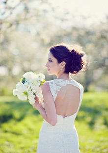 Spring bridal hairstyle