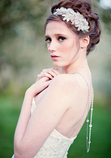 Bride hairpiece and hairstyle