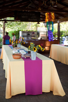 Cinco de Mayo yellow and pink tablescape