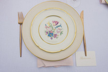 Vintage china place setting