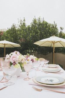 Backyard baby shower in Santa Monica