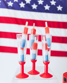 Red white and blue popsicles