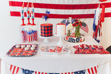 4th of July dessert table