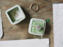 Light green ring box