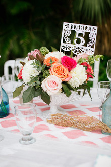 Papel picado table numbers
