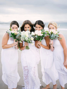 Beach bridesmaids portrait