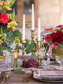 Tablescape candle sticks