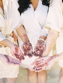 Bridal party henna tattoos