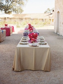 Wedding ceremony tablescape
