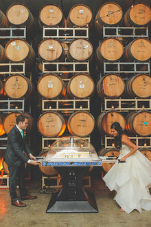 Wedding reception arcade games
