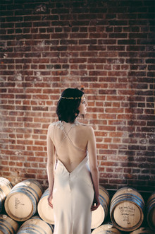 Industrial modern wedding dress