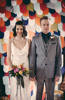 Industrial modern wedding portrait