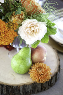 Fall wedding yellow and green florals