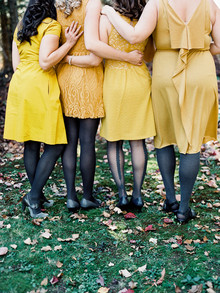 Fall bridesmaids portrait