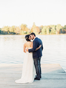 Fall wedding portrait