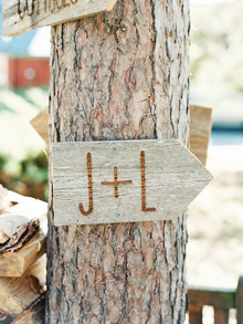 Rustic Fall wedding signage