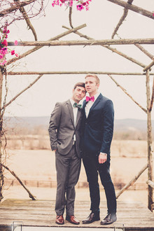 Outdoor wedding portrait