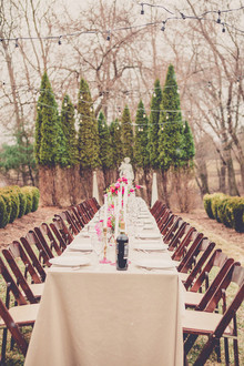 Rustic outdoor wedding tables cape
