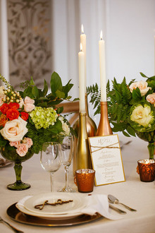 Intimate Brooklyn wedding tablescape