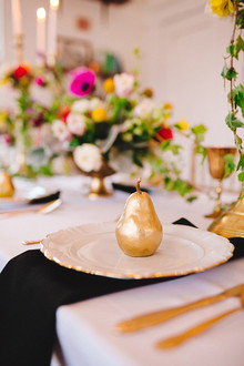 Gold pear place setting