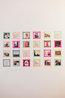 DIY colorful Instagram photo wall