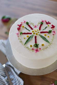 Valentine's Day flower cake