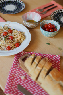 Valentine's Day bread and pasta