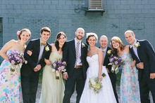 Upstate New York wedding party