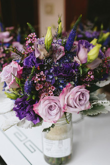 Dark purple bridesmaid bouquet