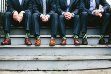 Groomsmen with green socks