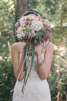 Light pink and purple bouquet