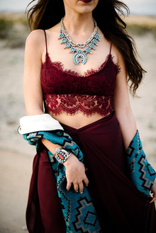 Bohemian desert wedding attire