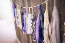 Purple tassel decor