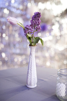 Purple wedding florals