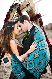 Bohemian desert wedding