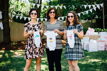 diy onesies at a baby shower