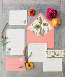 Arizona wedding invitation suite