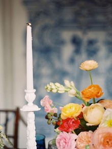 Vintage Spanish inspired wedding decor