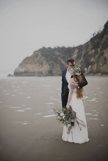 Oregon beach wedding