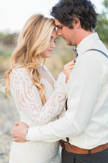 Bohemian palm springs wedding