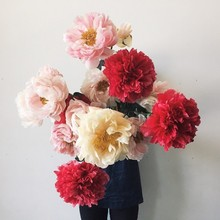 Oversized paper flowers