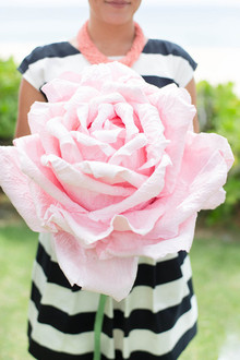 Oversized rose paper flower