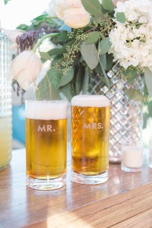 Monogrammed wedding cups