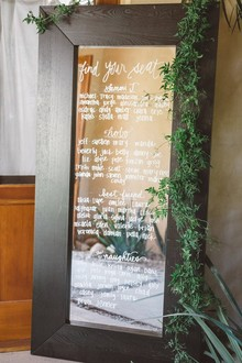 Mirror escort card display