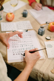 Calligraphy workshop with Parris Chic Boutique