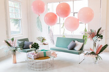 Tropical pastel baby shower