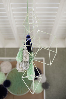 geometric baby shower mobile
