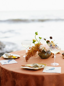 Beach wedding tables cape