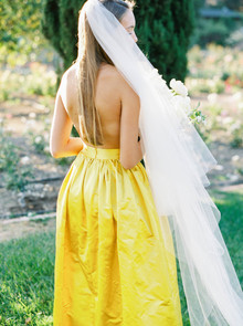 Summer wedding veil