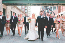 Downtown Toronto wedding party portrait